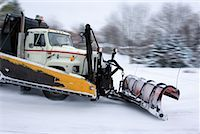 snow plow truck - Snow Plow    Stock Photo - Premium Rights-Managednull, Code: 700-00795511