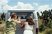 stalled car - Couple Pushing Stalled Van    Stock Photo - Premium Rights-Managednull, Code: 700-00796196