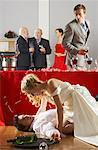 Bride Trying to Kiss Waiter At Wedding