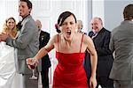 Bridesmaid Yelling at Wedding    Stock Photo - Premium Rights-Managed, Artist: Masterfile, Code: 700-00796334