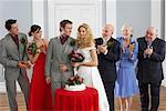 Portrait of Bride and Groom With Family and Wedding Party    Stock Photo - Premium Rights-Managed, Artist: Masterfile, Code: 700-00796338