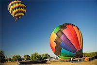 Hot air balloon preparing to take off Stock Photo - Premium Royalty-Freenull, Code: 625-00801301