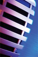 Extreme close-up of microphone Stock Photo - Premium Royalty-Freenull, Code: 625-00801801