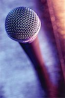 Close-up of microphone Stock Photo - Premium Royalty-Freenull, Code: 625-00801811