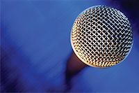 Close-up of microphone Stock Photo - Premium Royalty-Freenull, Code: 625-00801833