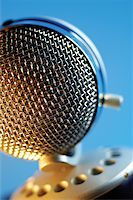 Extreme close-up of microphone Stock Photo - Premium Royalty-Freenull, Code: 625-00801973