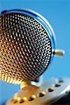 Extreme close-up of microphone Stock Photo - Premium Royalty-Free, Artist: ableimages, Code: 625-00801973