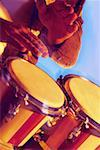 Close-up of a musician playing the bongo Stock Photo - Premium Royalty-Free, Artist: Puzant Apkarian, Code: 625-00802821