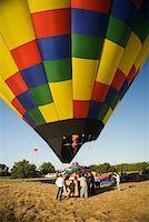 Hot air balloon preparing to take off Stock Photo - Premium Royalty-Freenull, Code: 625-00806363