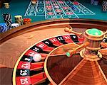 Roulette Wheel    Stock Photo - Premium Royalty-Free, Artist: Rick Fischer, Code: 600-00819417