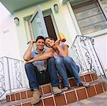 Couple Sitting on Porch    Stock Photo - Premium Rights-Managed, Artist: Raoul Minsart, Code: 700-00824090