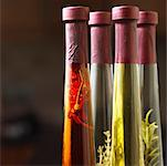 Close-up of bottles of olive oil Stock Photo - Premium Royalty-Free, Artist: Siephoto, Code: 618-00829831