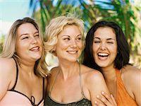 Portrait of three overweight women smiling Stock Photo - Premium Royalty-Freenull, Code: 618-00832920