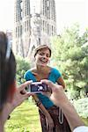 Spain, Barcelona, man photographing woman by Sagrada Familia Stock Photo - Premium Royalty-Free, Artist: Larry Fisher, Code: 613-00834665