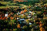 Aerial views of West burke, Vermont showing fall foliage Stock Photo - Premium Royalty-Free, Artist: Aflo Relax, Code: 625-00840387