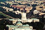 Aerial view of a building, Capitol Building, Library of Congress, Washington DC, USA