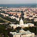 Aerial view of a government building, Capitol Building, Library Of Congress, Washington DC, USA