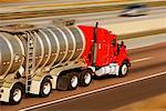 Tanker Truck on Highway    Stock Photo - Premium Rights-Managed, Artist: Ken Davies, Code: 700-00846556