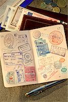 stamped - Passport and Wallet Stock Photo - Premium Rights-Managednull, Code: 700-00846872