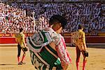 Bullfighters in Ring, Pamplona, Spain    Stock Photo - Premium Rights-Managed, Artist: Mike Randolph, Code: 700-00847405