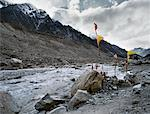 Prayer Flags at the Source of the Ganges River, Himalayas, Gaumukh, India    Stock Photo - Premium Rights-Managed, Artist: David Zimmerman, Code: 700-00847481