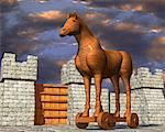 Trojan Horse    Stock Photo - Premium Rights-Managed, Artist: Guy Grenier, Code: 700-00847700