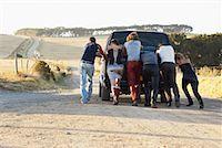 stalled car - People Pushing Stalled Van    Stock Photo - Premium Royalty-Freenull, Code: 600-00848516