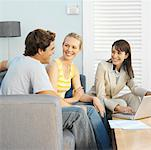 Couple talking with a real estate agent Stock Photo - Premium Royalty-Free, Artist: Cusp and Flirt, Code: 627-00853298