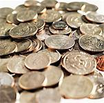 Close-up of American coins of various denominations Stock Photo - Premium Royalty-Free, Artist: Jerzyworks, Code: 627-00858702