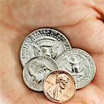 Close-up of a human hand holding various American denominations Stock Photo - Premium Royalty-Free, Artist: Edward Pond, Code: 627-00858724