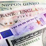 Close-up of various currency bank notes Stock Photo - Premium Royalty-Free, Artist: Jean-Yves Bruel, Code: 627-00858796