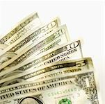 Close-up of various American dollar bills Stock Photo - Premium Royalty-Freenull, Code: 627-00858888