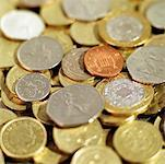 Close-up of various U.K.. coins Stock Photo - Premium Royalty-Free, Artist: photo division, Code: 627-00858942