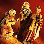 Nativity statues Stock Photo - Premium Royalty-Free, Artist: Blend Images, Code: 627-00859450