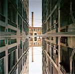 Alley and Buildings Reflected in Water    Stock Photo - Premium Rights-Managed, Artist: Mark Peter Drolet, Code: 700-00865890