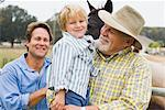 Portrait of Grandfather, Father and Son    Stock Photo - Premium Rights-Managed, Artist: Kevin Dodge, Code: 700-00866303