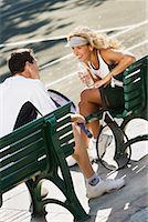 Man and Woman at Tennis Court    Stock Photo - Premium Rights-Managednull, Code: 700-00866995
