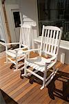 Rocking Chairs On A Porch    Stock Photo - Premium Royalty-Free, Artist: Burazin, Code: 600-00897294