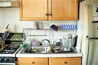 Kitchen with Dishes in the Sink    Stock Photo - Premium Rights-Managednull, Code: 700-00897201