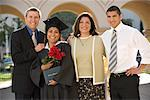 Portrait of Family with Graduate    Stock Photo - Premium Rights-Managed, Artist: Tim Mantoani, Code: 700-00897761