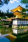 Reflection of a temple in water, Kinkaku-Ji Temple, Kyoto, Japan Stock Photo - Premium Royalty-Free, Artist: Oriental Touch, Code: 625-00898582