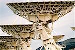 Low angle view of radio telescopes, VLA radio telescope, New Mexico, USA