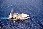 Aerial view of an oil drilling ship in the sea Stock Photo - Premium Royalty-Free, Artist: Peter Christopher, Code: 625-00899022