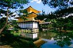 Reflection of a temple in water, Golden Pavilion, Kyoto, Japan Stock Photo - Premium Royalty-Free, Artist: Oriental Touch, Code: 625-00903653