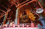 Low angle view of the statue of Buddha, Todaji Temple, Nara, Japan Stock Photo - Premium Royalty-Free, Artist: Brad Wrobleski, Code: 625-00903663
