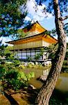 Pond in front of a temple, Golden Pavilion, Kyoto, Japan Stock Photo - Premium Royalty-Free, Artist: Oriental Touch, Code: 625-00903711
