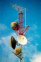 radio telescope - Low angle view of a radio tower Stock Photo - Premium Royalty-Freenull, Code: 625-00903849