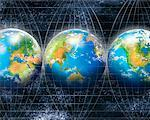 Earth on Grid Lines    Stock Photo - Premium Rights-Managed, Artist: Nora Good, Code: 700-00909486