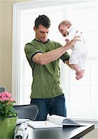 Father With Baby    Stock Photo - Premium Royalty-Freenull, Code: 600-00909577