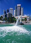 Merlion Fountain, Merlion Park, Singapore